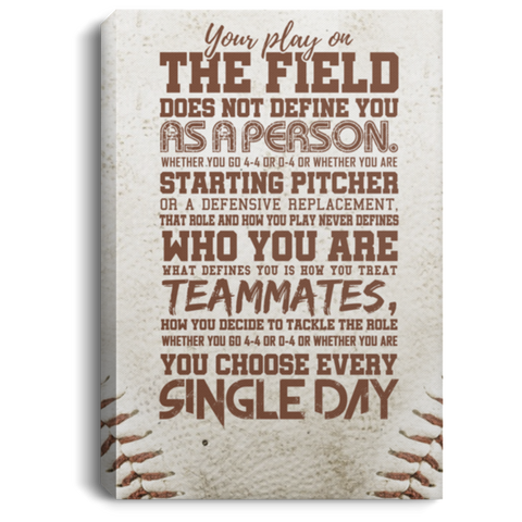 Who You Are Baseball Canvas Wall Art ALCA249
