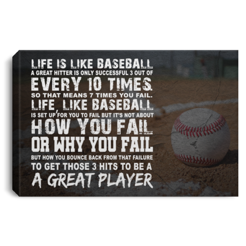 Life Is Like Baseball Canvas Wall Art ALCA1038