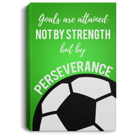 Soccer Perseverance Canvas Wall Art SACA1020