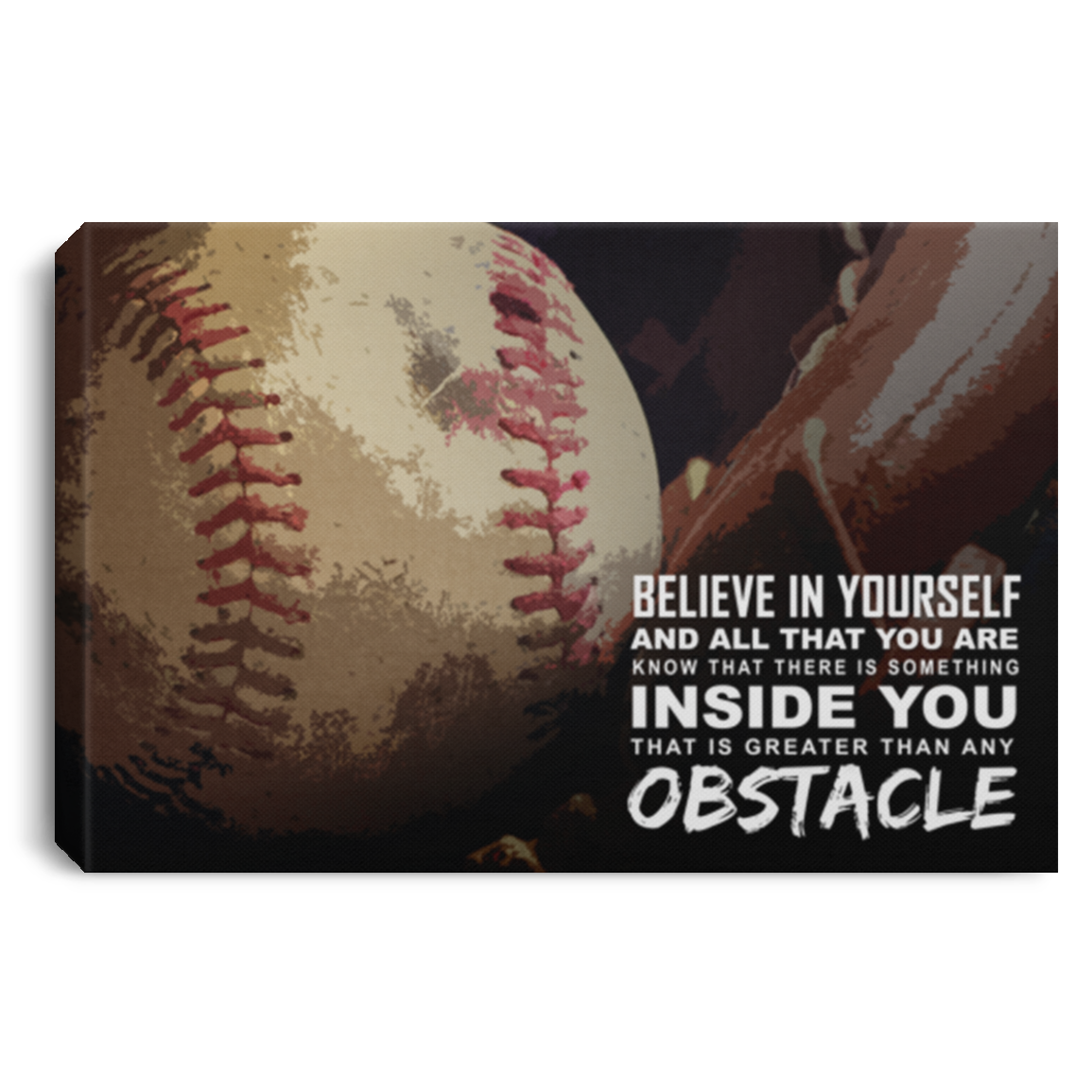 Believe In Yourself Baseball Canvas Wall Art ALCA232