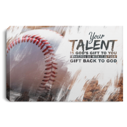 God's Gift Baseball Ball Canvas Wall Art ALCA227