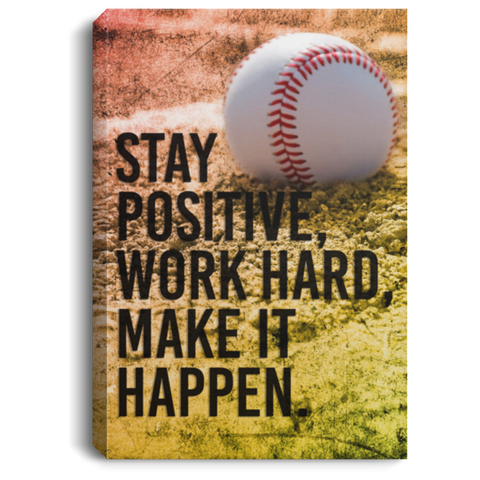 Baseball Stay Positive Canvas Wall Art SACA1009