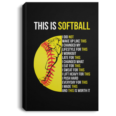 This Is Softball Canvas Wall Art JACA1003