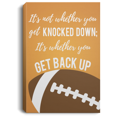 Football Get Back Up Canvas Wall Art SACA1019