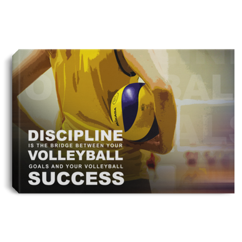 Discipline Is The Bridge Volleyball Canvas Wall Art ALCA204