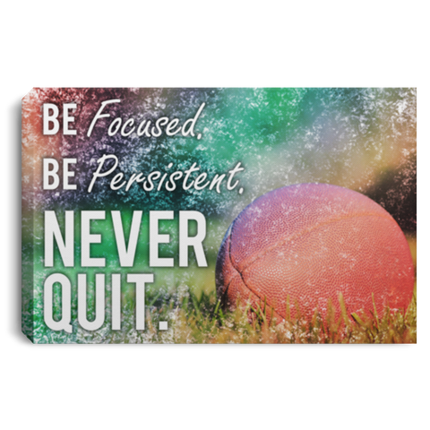 Football Never Quit Canvas Wall Art SACA1017