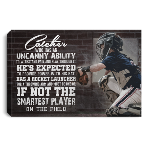 Smartest Player Baseball #1 Canvas Wall Art ALCA1042