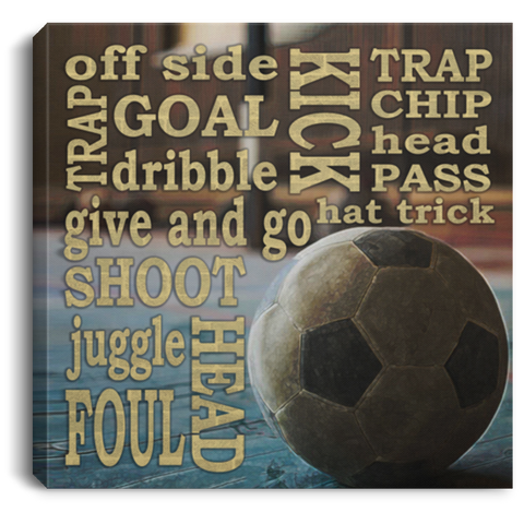 Soccer Kick Shoot Goal Canvas Wall Art SACA1002