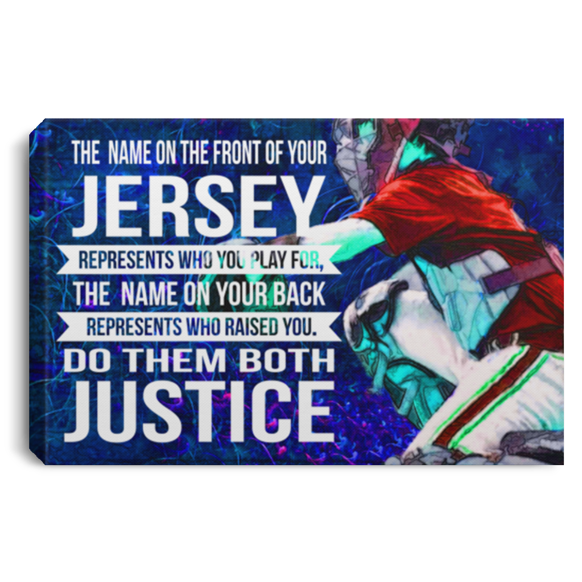 Do Them Both Justice Baseball Canvas Wall Art JACA1004