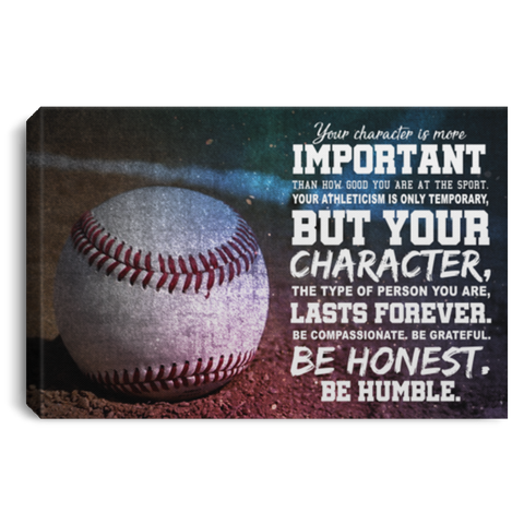Character Is More Important Baseball Canvas Wall Art ALCA1030