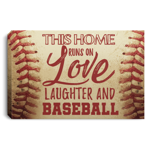 Laughter And Baseball Canvas Wall Art ALCA1040