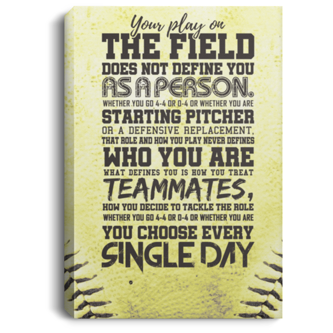 Who You Are Softball Canvas Wall Art ALCA250