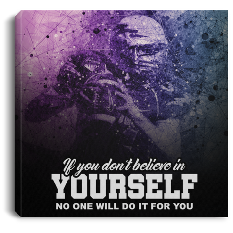 Believe In Yourself Football Canvas Wall Art ALCA211