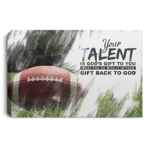 God's Gift Football Ball Canvas Wall Art ALCA224