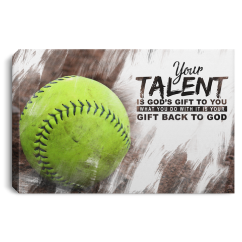 God's Gift Softball Ball Canvas Wall Art ALCA228