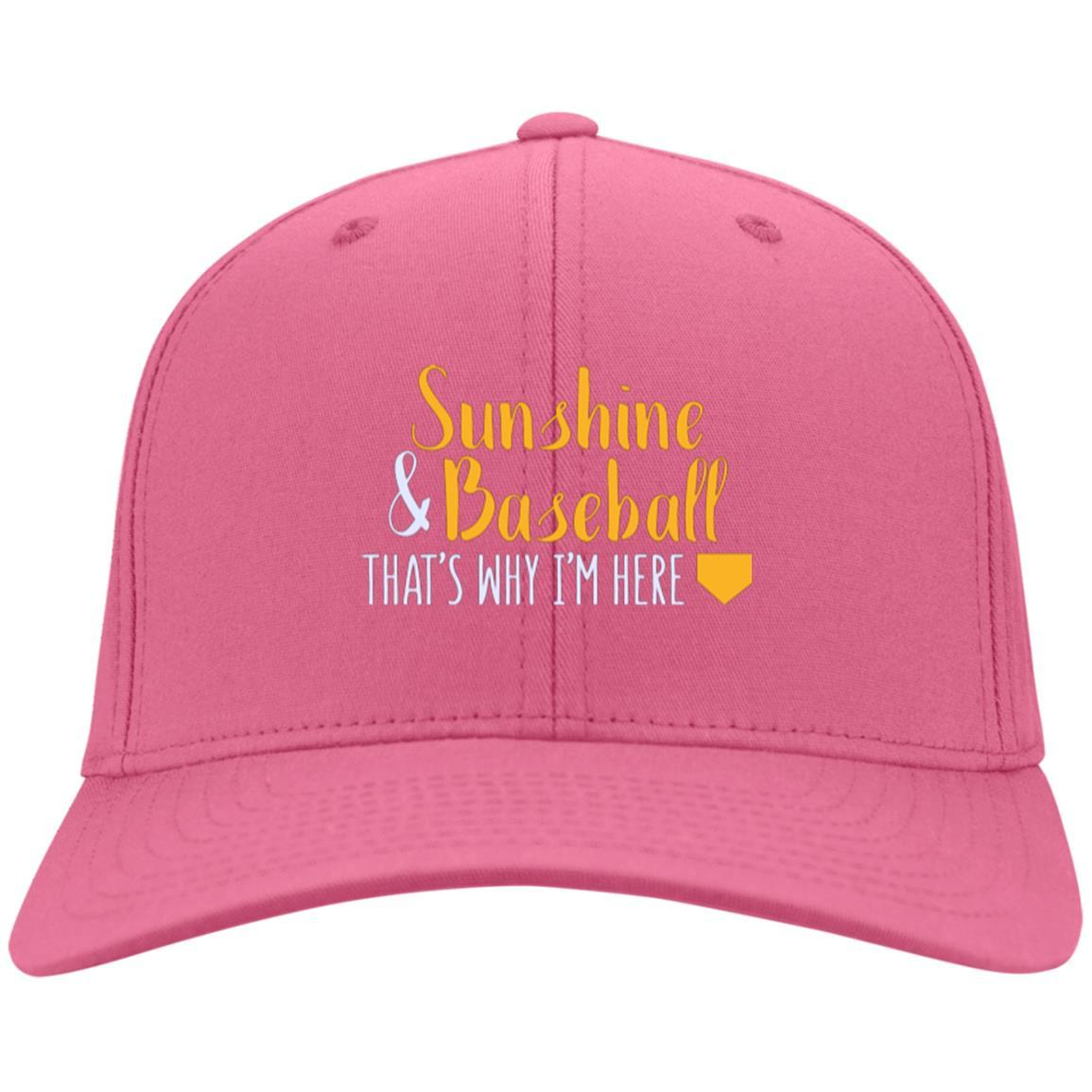 Sunshine & Baseball That's Why I'm Here Cotton Twill Hat