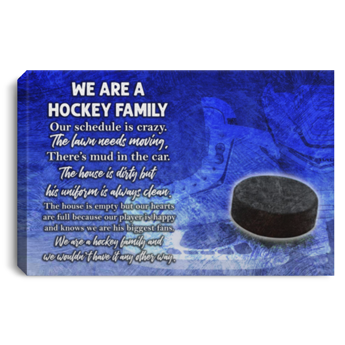 Hockey We Are A Family Canvas Wall Art SACA1040