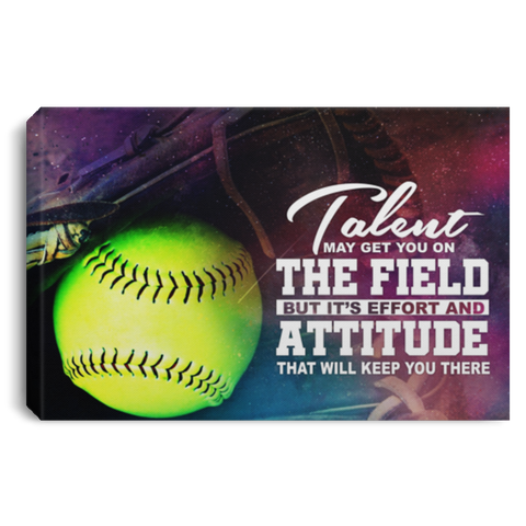 Effort And Attitude Softball Canvas Wall Art ALCA242