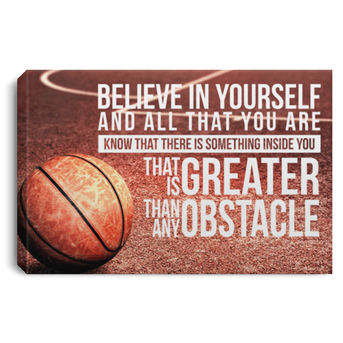 Believe In Yourself Basketball Canvas Wall Art JACA1027