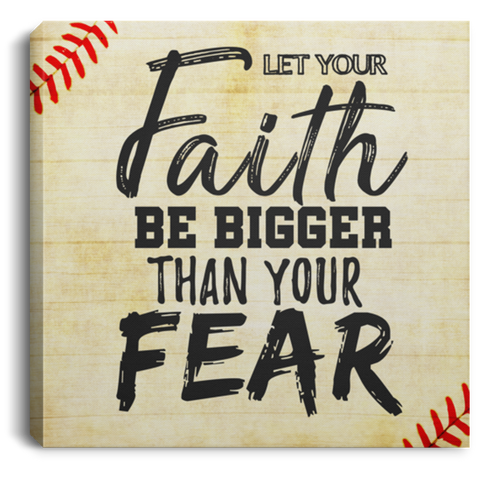 Let Your Faith Baseball #1 Canvas Wall Art ALCA1062