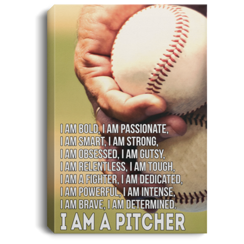 I Am A Pitcher Canvas Wall Art JACA1022
