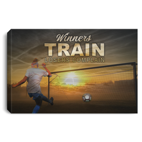 Winners Train Losers Complain Soccer Canvas Wall Art ALCA201