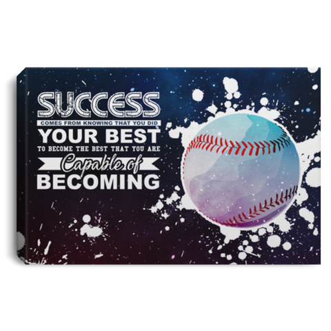 Becoming The Best Baseball Canvas Wall Art ALCA234