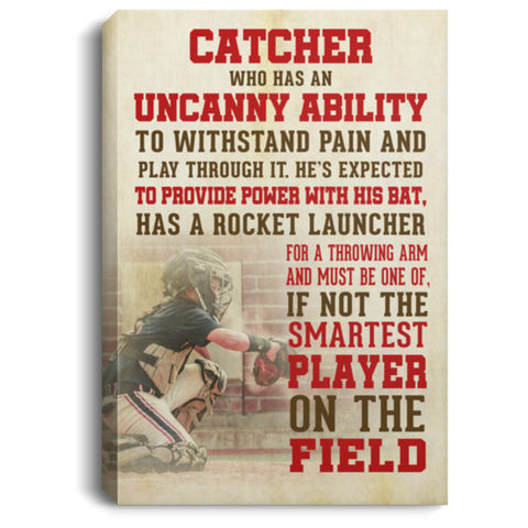Smartest Player Baseball #2 Canvas Wall Art ALCA1043