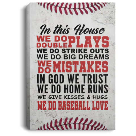 We Do Baseball Love Canvas Wall Art ALCA1064