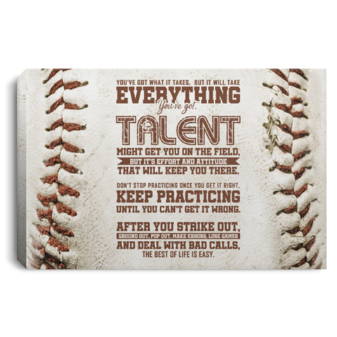 Life Is Easy Baseball Canvas Wall Art ALCA243