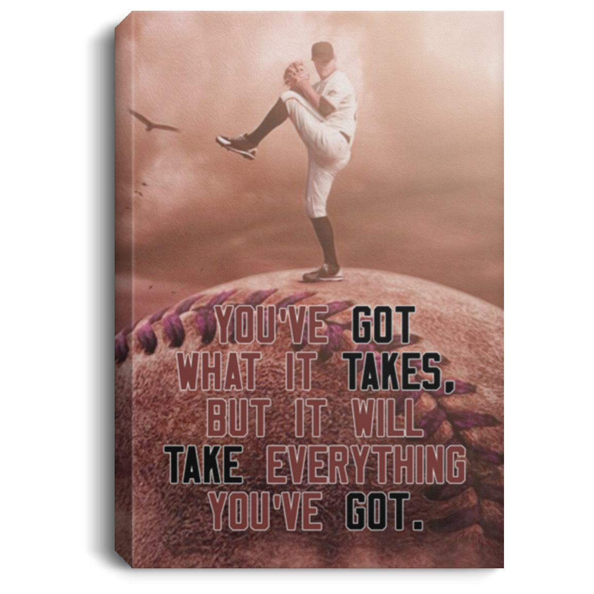 You've Got What It Takes Baseball Canvas Wall Art JACA1009