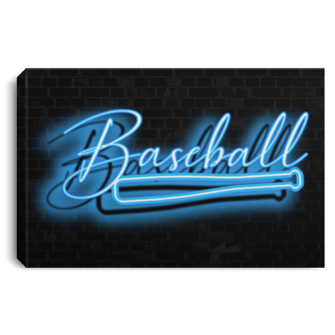 Baseball Neon Light Effect Canvas Wall Art JACA1034
