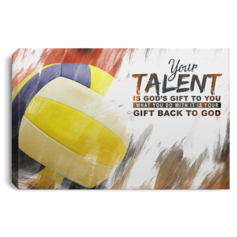 God's Gift Volleyball Ball Canvas Wall Art ALCA225