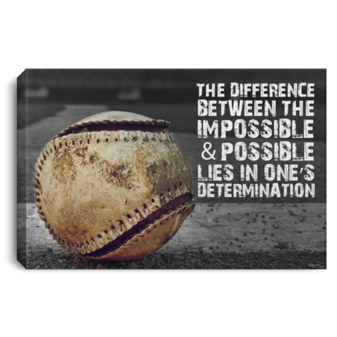Lies In One's Determination Canvas Wall Art ALCA1056