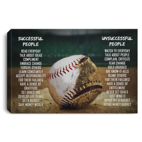 Successful and Unsuccessful Baseball Canvas Wall Art ALCA1036