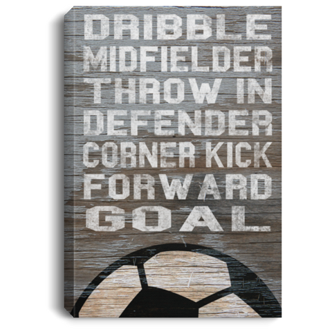 Soccer Dribble Midfielder Throw In Canvas Wall Art SACA480