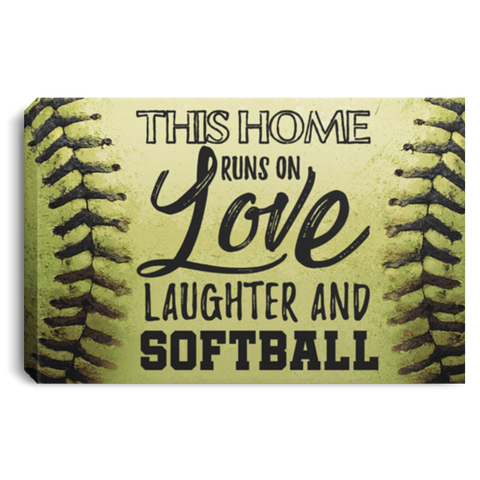 Laughter And Softball Canvas Wall Art ALCA1041