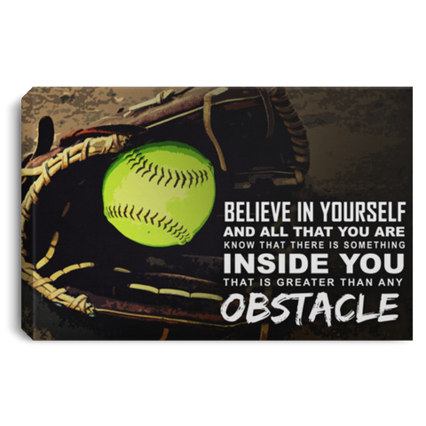 Believe In Yourself Softball Canvas Wall Art ALCA233