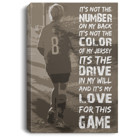 Love For This Game Soccer Canvas Wall Art ALCA203