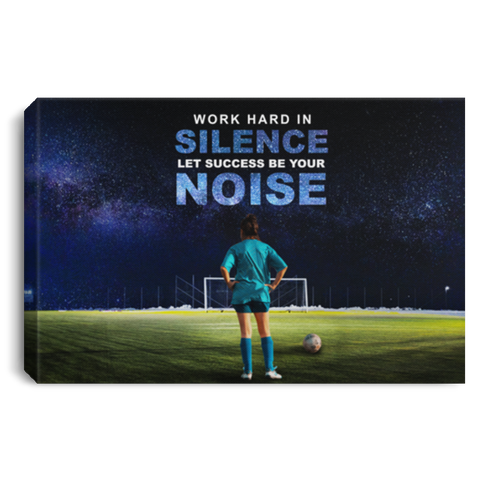 Work Hard In Silence Soccer Canvas Wall Art ALCA202