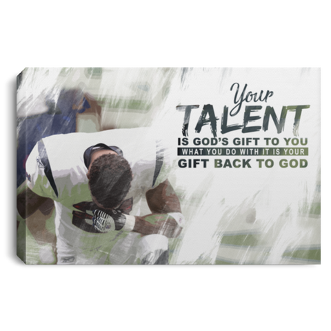 God's Gift Football Canvas Wall Art ALCA214