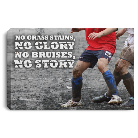 Soccer No Bruise No Story Canvas Wall Art SACA1001