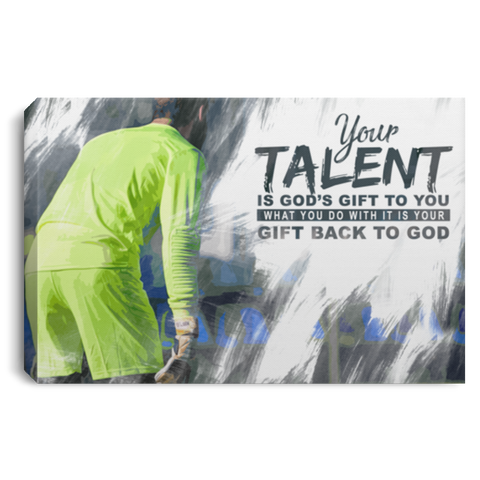 God's Gift Soccer Canvas Wall Art ALCA216