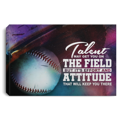 Effort And Attitude Baseball Canvas Wall Art ALCA241