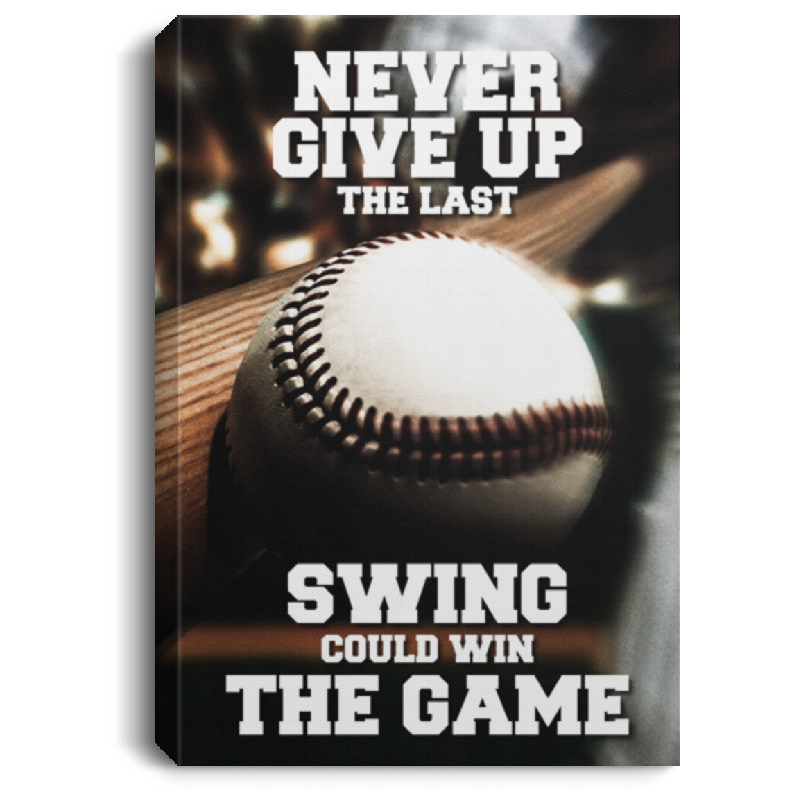 The Last Swing Baseball Canvas Wall Art JACA1321
