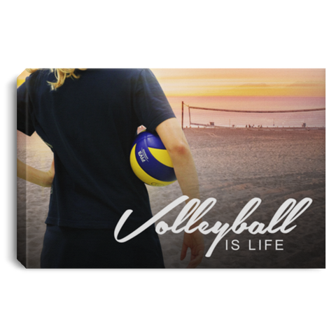 Volleyball Is Life Canvas Wall Art ALCA206