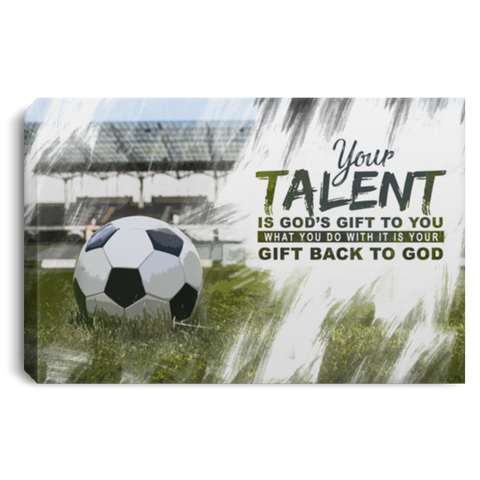 God's Gift Soccer Ball #2 Canvas Wall Art ALCA229