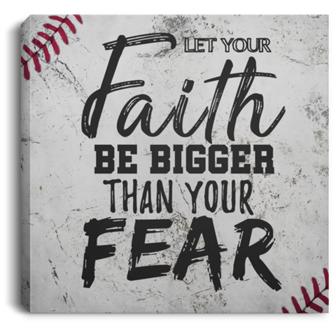 Let Your Faith Baseball #2 Canvas Wall Art ALCA1063