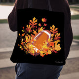 Football Autumn Leaves Linen Tote Bag EV82