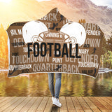 Football Premium Hooded Blanket JAHB1017